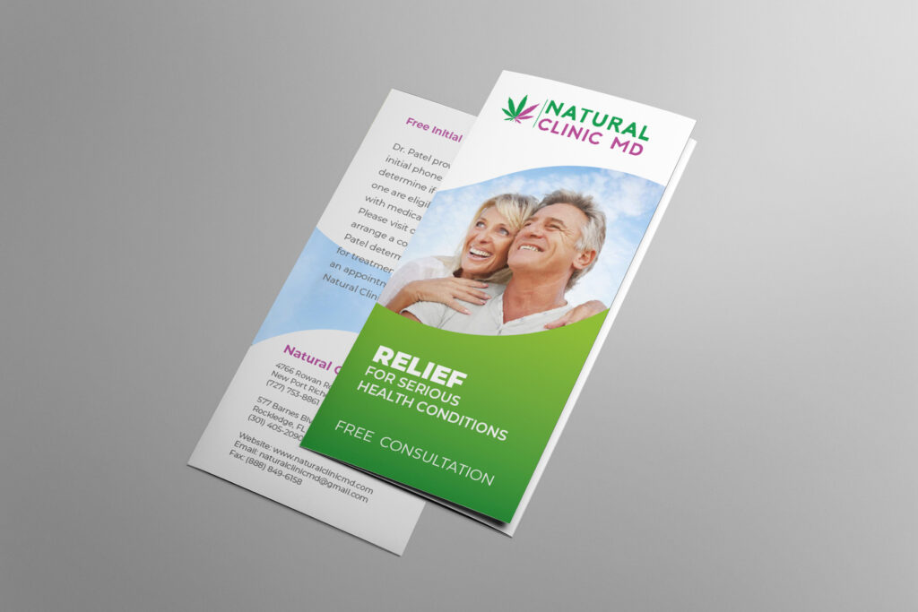 Natural Clinic MD Brochure cover closed